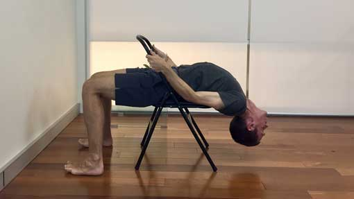 Backbends in iyengar yoga sport fatare for Chaise yoga iyengar