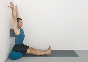 yoga poses with wall support  weekly intermediate class